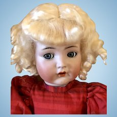 Pale Blond Mohair Doll Wig Size 11 For French or German Doll