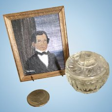 Miniature Dollhouse Portrait and Candy Dish