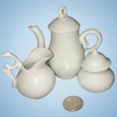 Sweet Old Tea Set For Display or Dollhouse