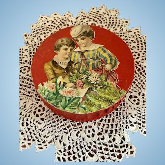 Lovely Original Candy Box for Display with French or German Dolls