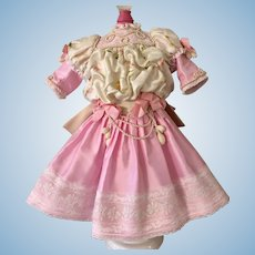 Beautiful Artist Made Silk Dress for French Bebe Doll