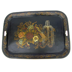 Hand Painted 19th Century Tole Tray