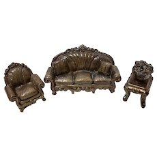 3 Pc Miniature Sterling Sofa Set