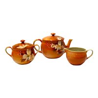 3 pc Rookwood Pottery Set by Harriett Wilcox 1891