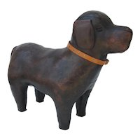 Abercrombie and Fitch Dimitri Omearsa Dog Leather Footstool