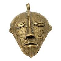 African Bauli Tribe Bronze Ivory Coast Pendant