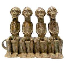 African Bronze Sculpture Men