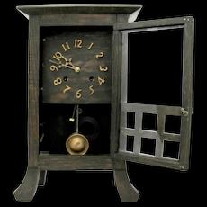 New Haven Arts & Crafts Oak Mission Clock