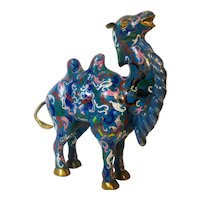 Asian cloisonné blue camel