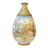 Asian Large Hand Decorated Vase