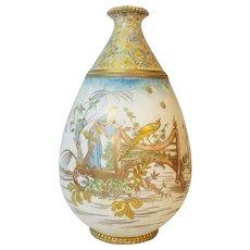 Asian Large Hand Decorated Vase