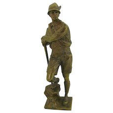 Bronze by Bruno Zach (1891-1935) Mountain Climber Signed