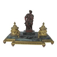 Dore Bronze French Figural Inkwell