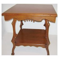 Victorian Square Oak  Lamp Table