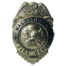 Vintage Walsenburg, Colorado Fire Badge