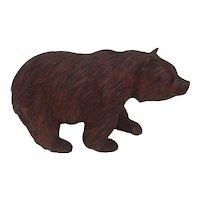 Hand Carved Black Forest Bear