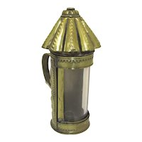 Brass Repouse Candle Lantern Carrying Handle