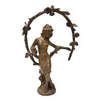 Bronze Art Nouveau Woman