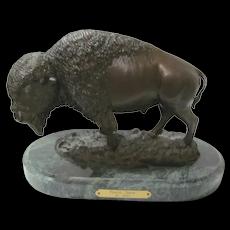 "Bronze Buffalo Signed B. Black ""PRARIE SPIRIT"""