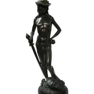 Bronze David Sculpture By  Donatello