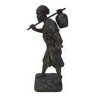 Metal Male Figural - Signed By Debu