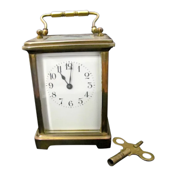 Brass and Glass Carriage Clock