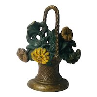 Antique Cast Iron Floral Door Stop