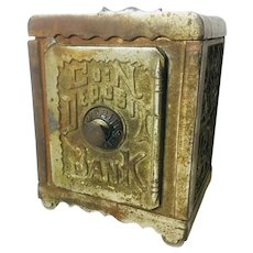 "Antique Cast Iron Bank ""Coin Deposit Bank"""