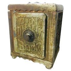 "Antique Cast Iron Bank ""Coin Deposit Bank"""
