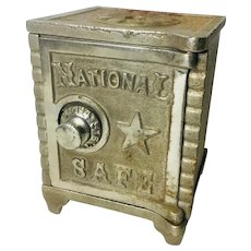 "Antique cast iron bank ""National Safe"""