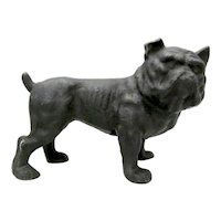 A Vintage Cast Iron Bull Dog Doorstop.
