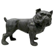 A Vintage Cast Iron Bull Dog Doorstop.