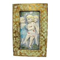 Children Pottery Plaque