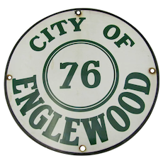 City of Englewood Enameled Porcelain Sign