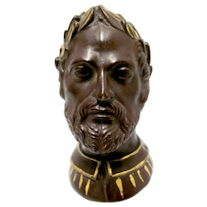 Clay Portrait Romanesqe Tobacco Pipe
