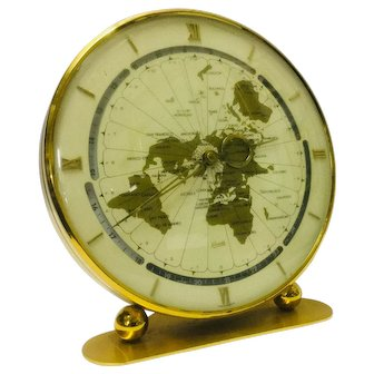 """Vintage Mid-Century """"Kundo"""" World Time Clock by Keininger & Obergfell, Germany"""