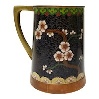 Cloisonne Mug with Yellow Flowers