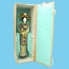 Cloisonne Woman Figurine