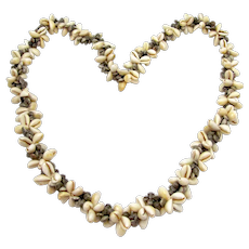 Vintage Coffee Bean Shell Necklace