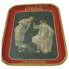 1926 Coca Cola Metal Tray The Golfer
