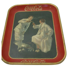 1926 Coca Cola Metal Tray The Golfer