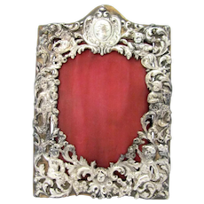 Cupid Sterling Silver Picture Frame