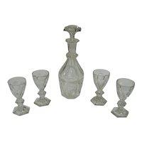 Signed Baccarat Decanter Set - Decanter + 4 Glasses