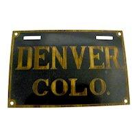 Denver Colorado Placard