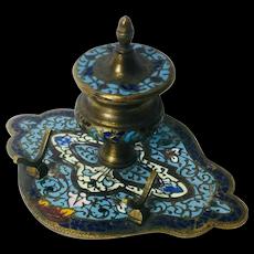 Brass Asian Ink Well