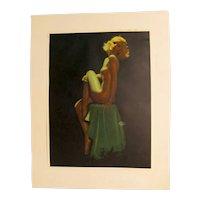 Earl Moran Vintage Pinup Girl Print 2 of 4
