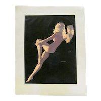 Earl Moran Vintage Pinup Girl Print 3 of 4