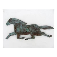 Early 19th Century Copper Weather Vane Horse