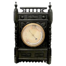Ebonized Wooden Barometer