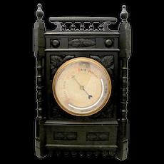 Ebonized Wooden Barometer